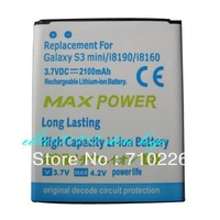 2pcs 2100mAh Li-ion Replacement Battery High Capacity Mobile Battery For Samsung Galaxy S III S3 mini i8190 i8160