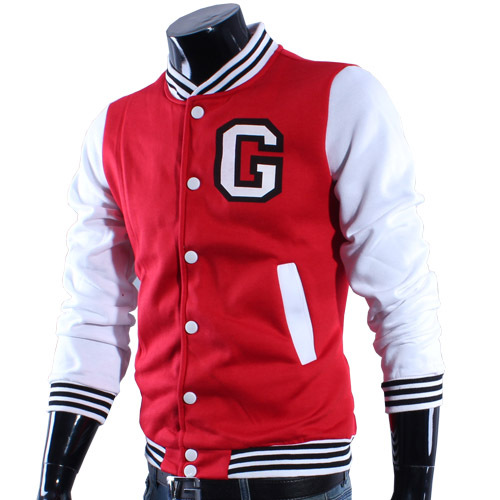 Lovers c letter fashion sports baseball uniform slim baseball shirt male jacket outerwear 3700(China (Mainland))