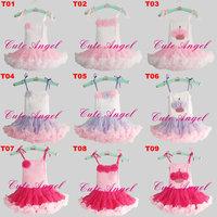 EMS DHL Free Shipping Cute angel fashion hot-selling tutu dance dress ribbon puff suspender pettiskirt tutus 9 colors
