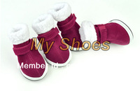 Pet Dog Shoes Puppy Cozy Boot Red Cute Chrismas Santa Puppy Pet Apparel free shopping 3374
