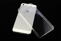 hot sell!0.8mm ultrathin PC clear case transparent hard case for iphone 5 5G 5s  1pcs/lot free shipping