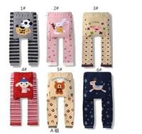 6 pcs/lot NEW Arrival Children Kids PP Pants Long Trousers Cartoon Legging Cotton Baby Boys Girls Wear HOT Sale free shipping