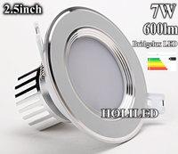 7W LED down light,600lm, bridgelux led from usa,45mil x 45mil