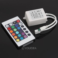 Wholesale - 2pcs wireless 24-key Button IR Remote control for All RGB LED Light strip 80192