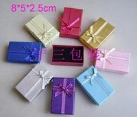 Free shipping 72 pcs  8x5 x 2.5cm Gold and silver box chain sets box jewelry box