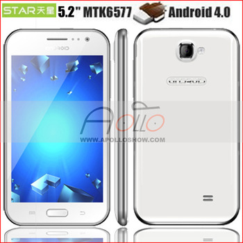 "Star A909 Smartphone Android 4.0.9 MTK6577 512MB+4GB 1.0GHz 5.2""Capacitance Screen HK Post Freeshipping"