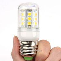 Hot 2pcs E27 27SMD 5050 LED 5.5W Corn Light Bulbs LED Lamp AC Spotlighting 110V 80204