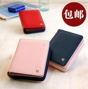 2013 Fashion wallet female short design  block women's zipper wallet card holder free shipping