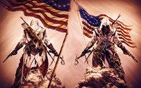 "020 ART PRINT Assassins Creed 3 iii ezio hot tv video Game 38"" x 24"" inch poster cloth"