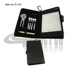Free shipping Hot Sale 4pcs Tee 1pc Divot Tool and pencil Golf Mark Notebook(China (Mainland))