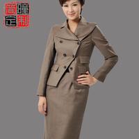 Women's fashion skirt autumn and winter gentlewomen ol suit half-skirt set a037