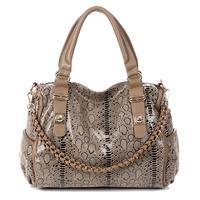 2012 winter women's handbag fashion serpentine pattern women's handbag one shoulder cross-body handbag bag