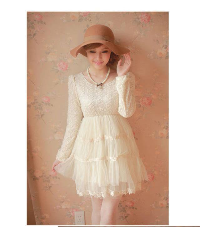 Vintage Lace White Dress - White Dresses