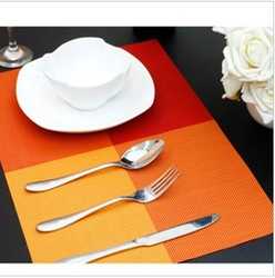 Min. order is $15 (mix order) 3265 brief rectangle placemat heat insulation pad dining table mat(China (Mainland))