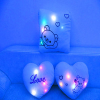 free shipping rilakkuma Plush toy bear luminous lovers Heart-shaped  pillow heart romantic Valentine's Day Gift