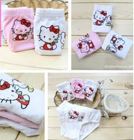 Free Shipping Wholesale baby briefs 12 pcs / lot Cotton cartoon cats children briefs Lycra cotton Underwears