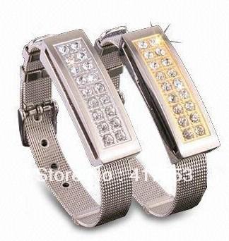 diamond wristband usb,bracelet jewelry usb drive,2gb/4gb/8gb/16gb/32gb