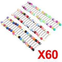wholesale 600 pieces 6mm Ball Tongue Steel Bar Ring Barbell Body Piercing