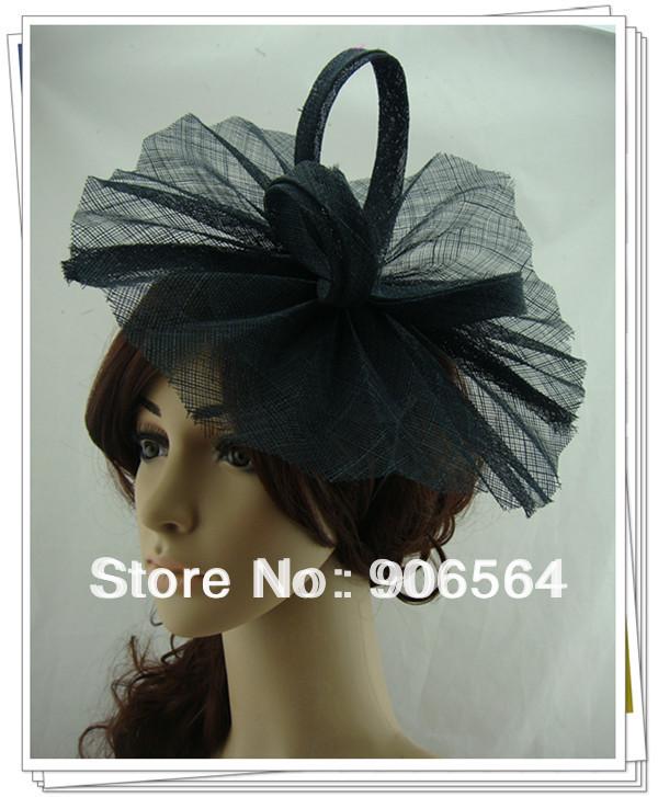 Free shipping 9color avaliable sinamay fascinator hats ,good bridal wedding hats,cocktail hat,Very nice,MSF205(China (Mainland))