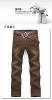Джинсы Мужские и розничная продажа высококачественных моды бренда человек брюки, прямые ствол чистый хлопок бренд Голубой Джинс xin9053