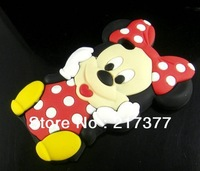3D Mickey Mouse Silicone Back cover Case For Apple iPhone 5 5G 5th Free Shipping