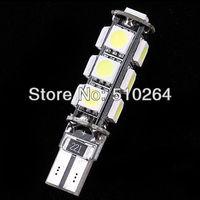 2PCS,Error Free CANBUS T10 W5W 194 168 2825 2821 Car  White 13 SMD 5050 LED Light Bulbs DC 12V