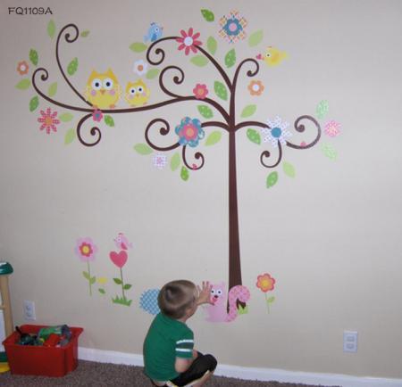Monkey Elephant Wall Stickers Nursery Kid Room Decor-in Wall Stickers