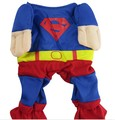 Various Size superman shirt Hoodie Tee dog pet clothes Apparel puppy costumes