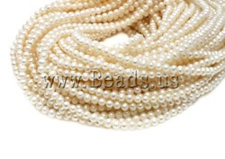 Free Shipping!! 15.5-In Fashion White Natural Round Cultured Freshwater Pearl Beads AA grade 6mm Jewelry Accessories Wholesale(China (Mainland))