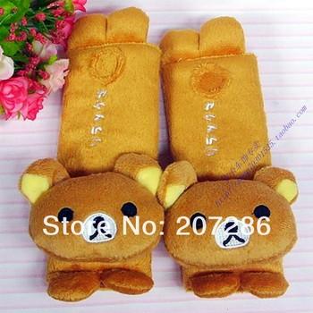 Free shipping 2pcs=1pair/lot Car cute seat safe belt cover bear sets  belt sheath piece suit 121230