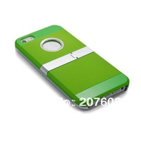 Wholesale 525PCS/LOT hot sale new design PC support shell robot cover case for iphone5 5g