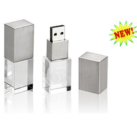 MOQ 1 pc  Promotional Crystal USB flash drive With Colorful Light 2gb 4gb 8gb +free shipping