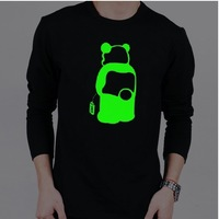 Men Women T-shirts S08,Lovers Fashion Fluorescent Luminous T-shirt,Superman Design Shirts,Tops Tees,Free Shipping