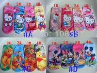 12pairs/lot cartoon baby socks cotton girl socks cartoon kids sneaker sock free shipping