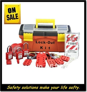 Lock-out kit bag box,LOTO ABS plastic safety padlock,safety products.