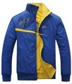 free shipping Man reversible standup jacket, zipper sportswear