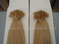 """24"""" 24inch 16# Light Blonde Color Keratin Nail U Tip Hair PreBonded Human Hair Extensions Indian Remy 1g/s 100g/100strands/lot"""
