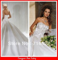 BG58 fashion style embroidered bridal wedding dress