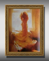 Free shipping Russia's  style hand-painted artwork  Nude Sexy Woman Modern Wall Decor Art Oil Painting DF-018  framed