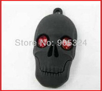 New Skull USB Flash Drive 2GB 4GB 8GB 16GB Real Capacity Jewelry usb 2.0 memory disk pen drive 10pcs/lot