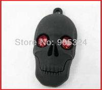 New Skull USB Flash Drive 2GB 4GB 8GB 16GB Real Capacity Jewelry usb 2.0 memory disk pen drive 10pcs/lot