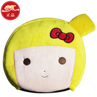 USB Cartoon Lovely Little Girl Hand Warmer Mouse Pad(yellow)