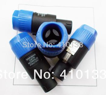 Free shipping 10pcs/lot Neutrik NL4FC Professional 4-core Speakon speaker plug connecter