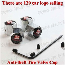 2sets/lot SEAT Car Logo Free Shipping Anti-theft Locking Tire Valve Cap With 129 Car Logo Selling(China (Mainland))