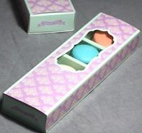 cake  boxPurple drawer type window macaron box chocolate box
