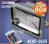 Worklife above 50k hrs RGB 20W Waterproof 1500LM AC85-265V Ca>80 LED Flood lights outdoor corn bulb DHL/EMS