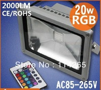 Worklife above 50k hrs RGB 20W Waterproof 1500LM AC85-265V Ca>80 LED Flood light outdoor corn bulb DHL/EMS