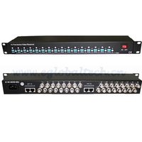 CCTV Transceiver 16 Channel Video Balun BNC  Active UTP Video Balun with Power 1200-2400meters