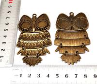 DIY Mob Case Decoration Accessory!  Bigger Retro OWL 20MM Style 10pcs/Lot!Fashion Steer the ship Keychain!