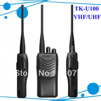 <Freeshipping + TK U100 2 way radio + VHF 136-174MHZ + Li-ion battery >TK-U100 frequency radio transceiver